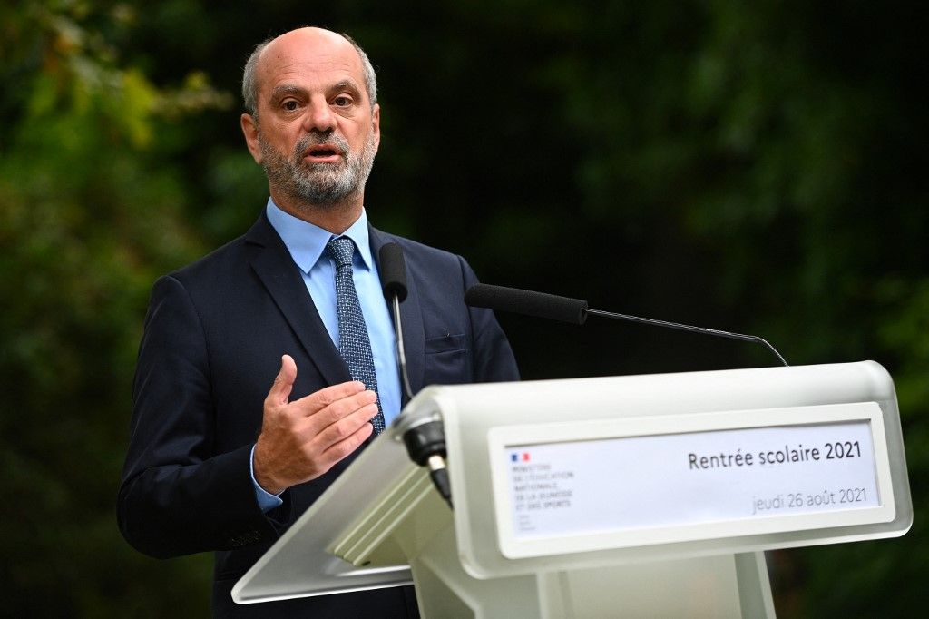 Jean-Michel Blanquer lors d'une conférence de presse, ce jeudi 26 août, au ministère de l'Education nationale.