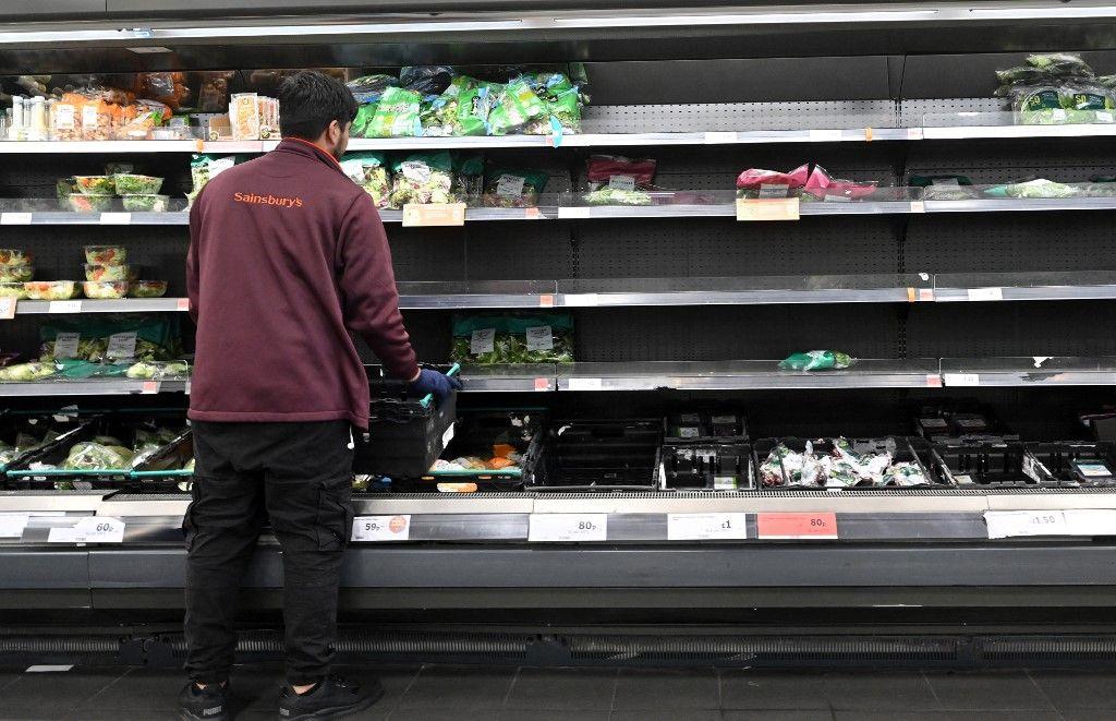 De nombreux magasins britanniques souffrent de problèmes d'approvisionnement.