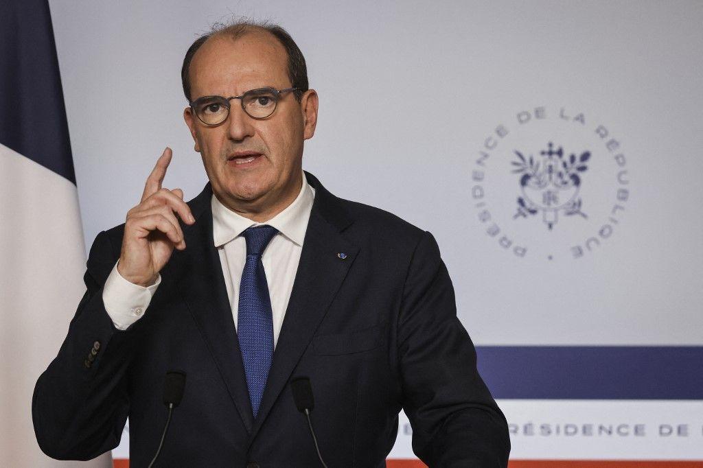 Jean Castex s'exprime lors d'un point presse sur la situation sanitaire. Le Premier ministre a annoncé la fin du remboursement systématique des tests Covid.