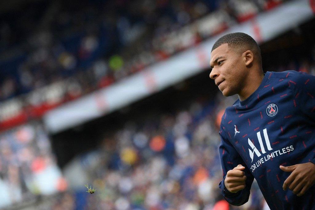 L'attaquant français du Paris Saint-Germain, Kylian Mbappé, au Parc des Princes à Paris le 11 septembre 2021.
