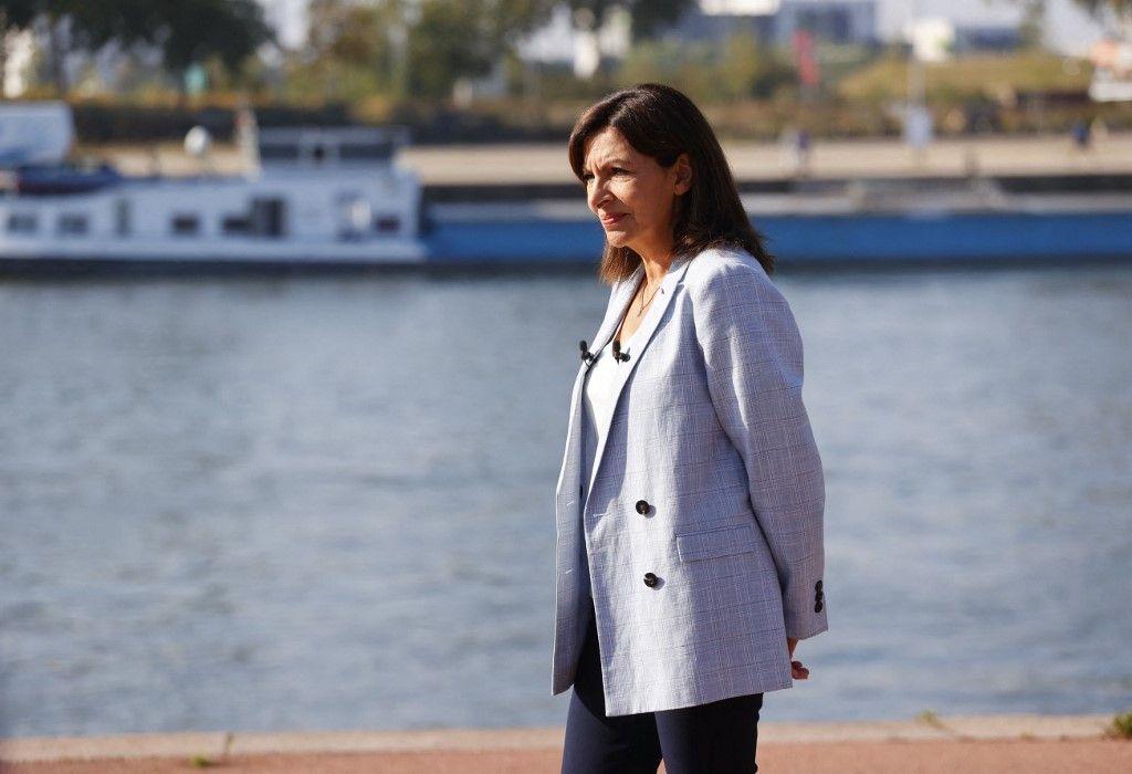 La maire de Paris, membre du Parti socialiste français (PS), Anne Hidalgo, à Rouen après avoir annoncé son intention de se présenter comme candidate du PS aux élections présidentielles de l'année prochaine.