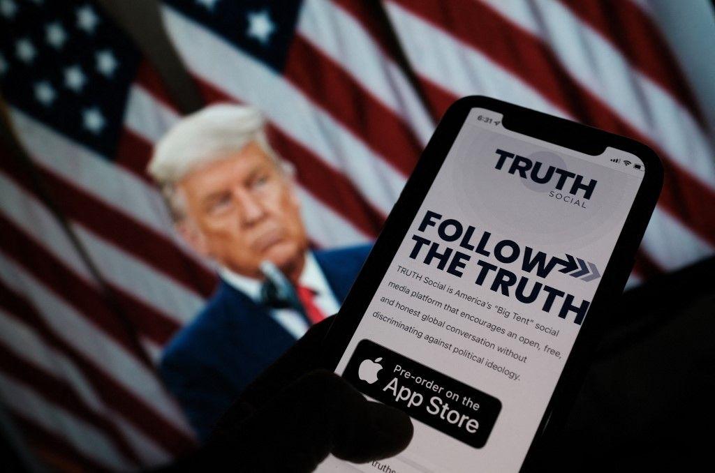 Une image d'illustration du réseau social de Donald Trump, Truth, sur l'Apple Store.