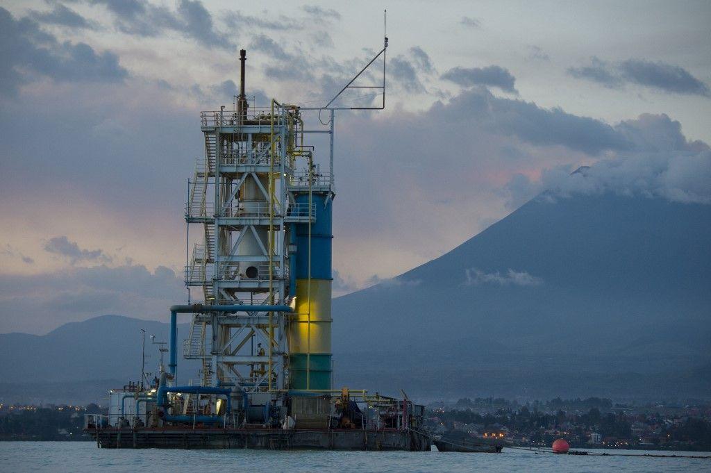 Une plateforme d'extraction du méthane, en République démocratique du Congo.