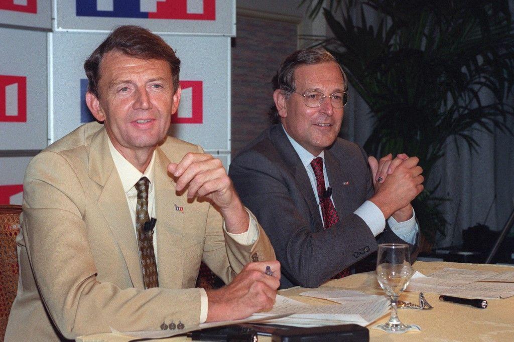 Etienne Mougeotte et Patrick Le Lay