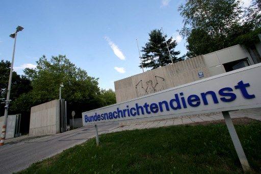 L'entrée du service fédéral de renseignement extérieur allemand (Bundesnachrichtendienst).