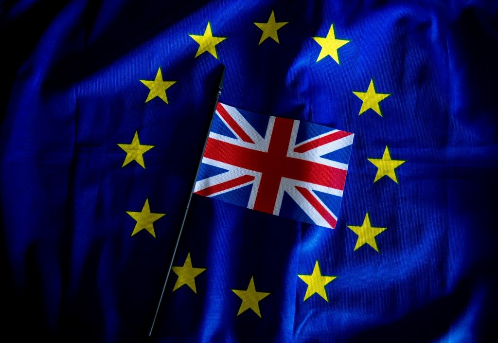 Europe Union européenne Royaume-Uni drapeaux Brexit