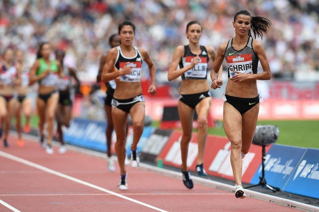 Des participantes au 3000 mètres steeple féminin lors de la réunion d'athlétisme des Jeux anniversaire de la Ligue de diamant dans l'est de Londres, le 23 juillet 2016.