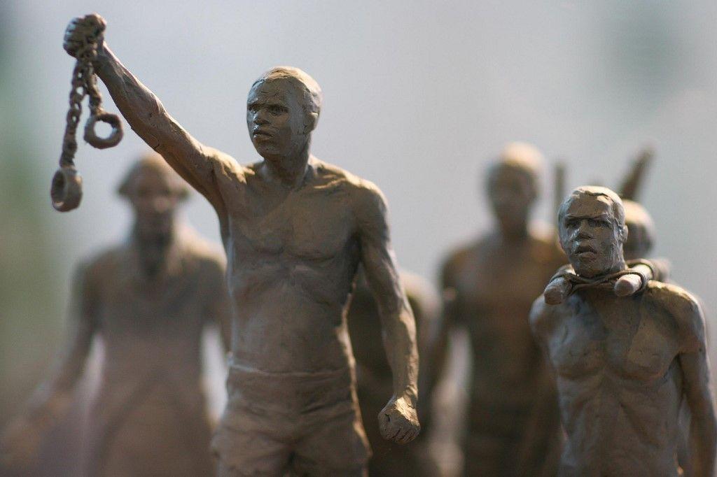 Une représentation de l'abolition de l'esclavage dans un musée à Londres.