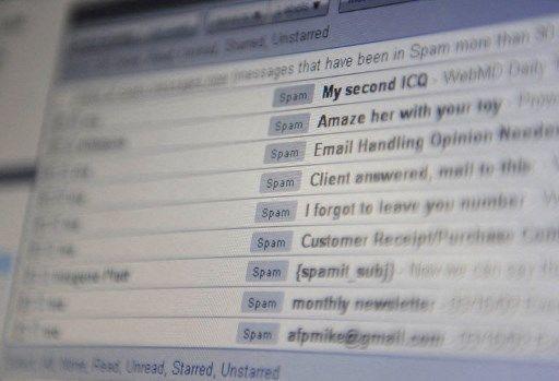 Une boîte email remplie de spam.