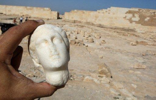 Une statuette de Cléopâtre découverte en 2009.