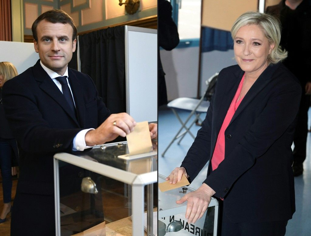 Emmanuel Macron Marine Le Pen rassemblement national