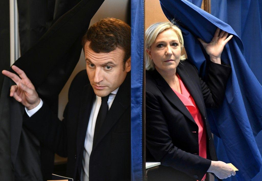 Election présidentielle : selon un sondage, l'écart se resserre entre Marine Le Pen et Emmanuel Macron