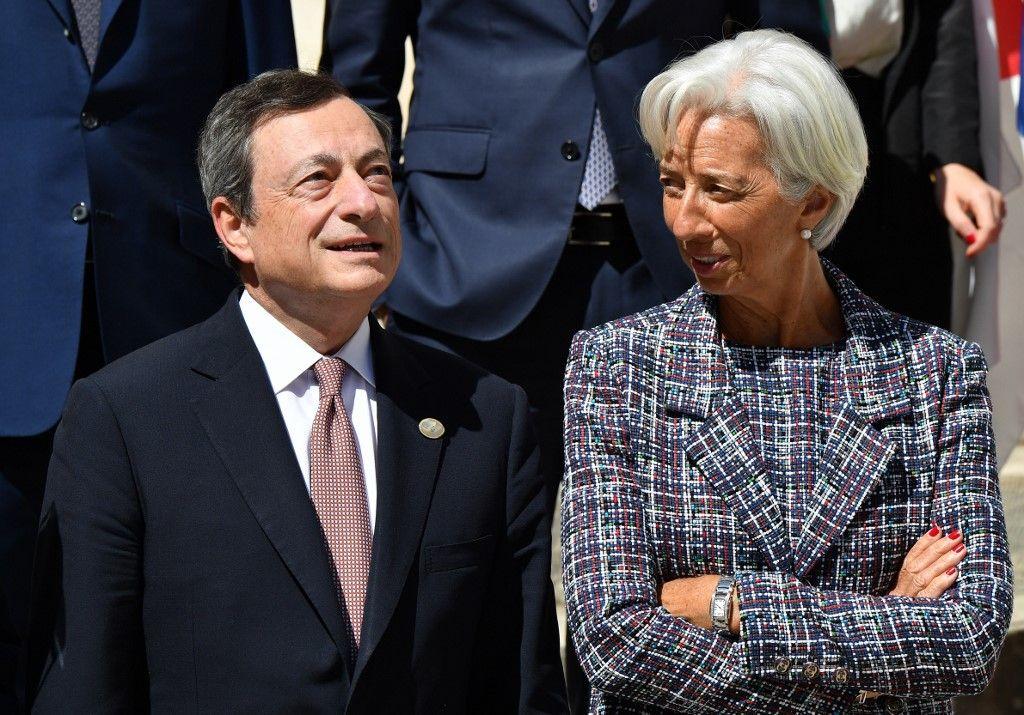 Christine Lagarde Mario Draghi BCE