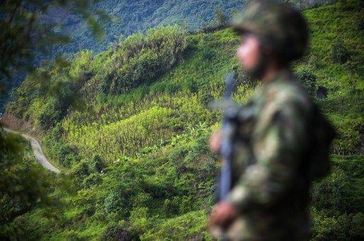Militaire en Colombie