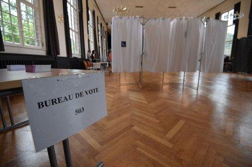 Un bureau de vote vide, à Strasbourg en 2017.