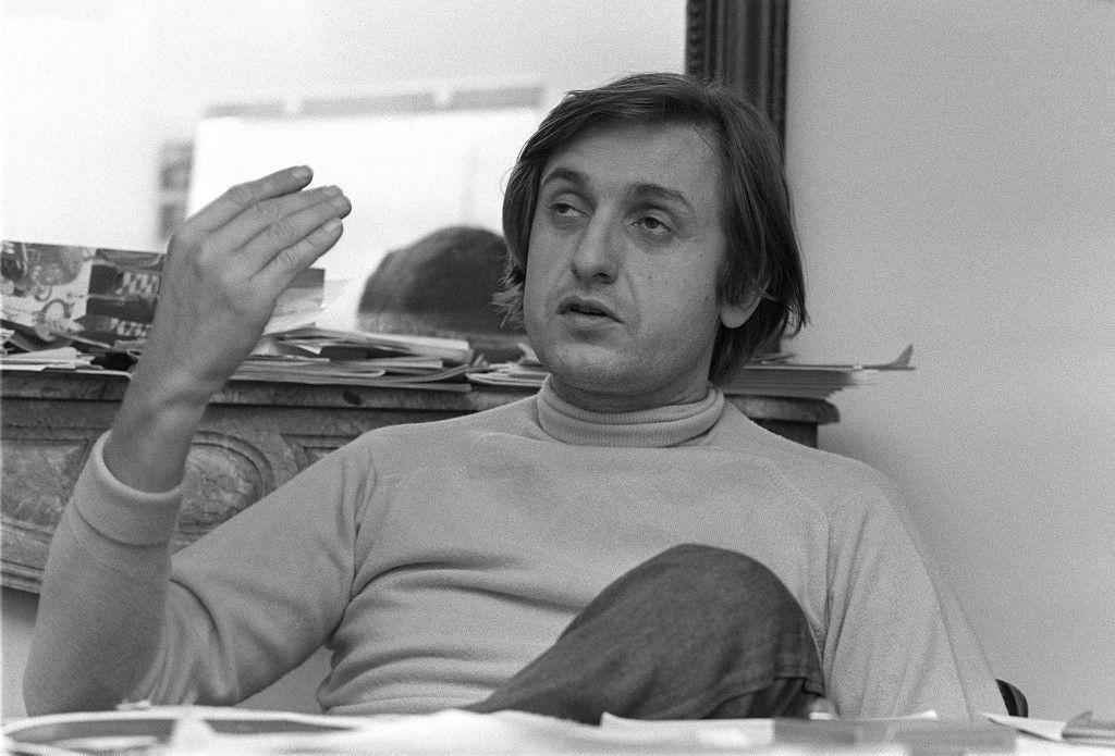 Une photographie datée du 28 décembre 1979 du journaliste Jean-François Bizot, à la rédaction d'Actuel à Paris.