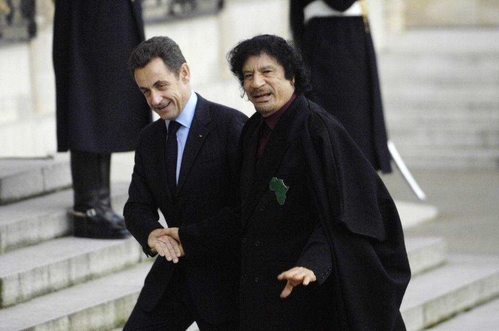 Kadhafi et Sarkozy