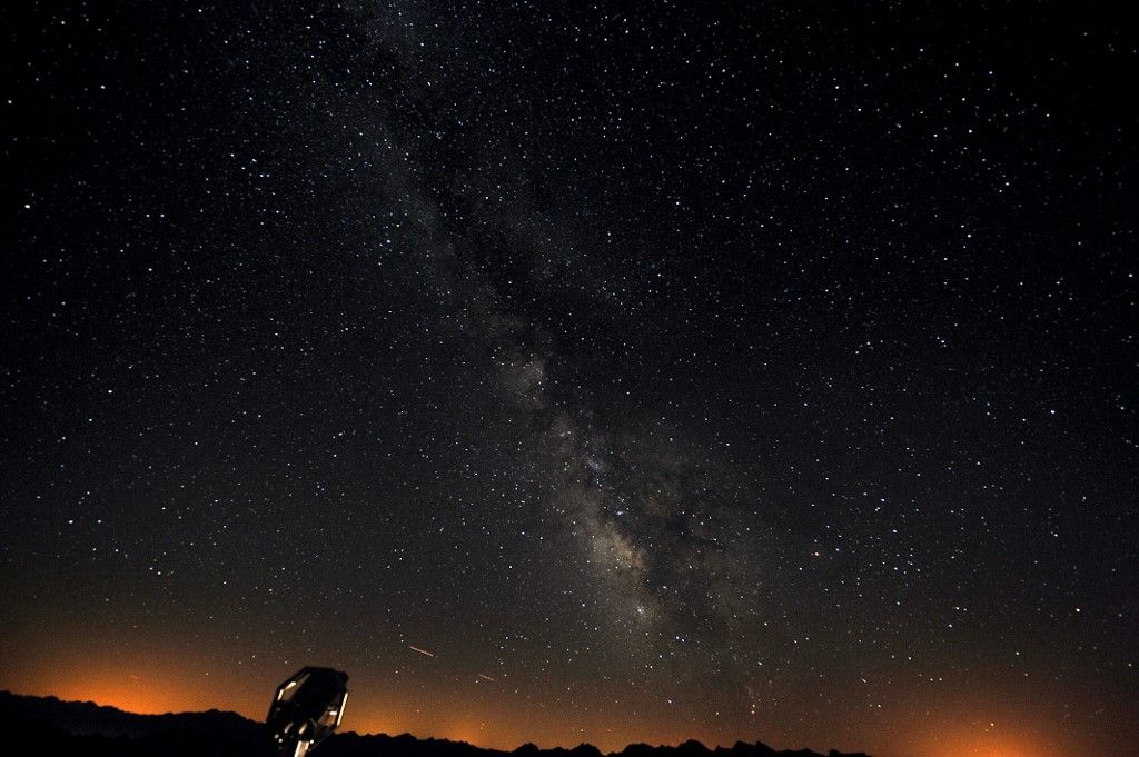Photo prise le 6 août 2010 de l'observatoire du Pic du Midi, de la Voie lactée.