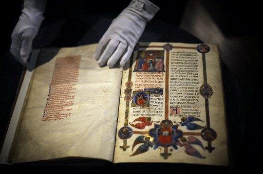 Un manuscrit du XIVe siècle, découvert dans les archives épiscopales à Autun.