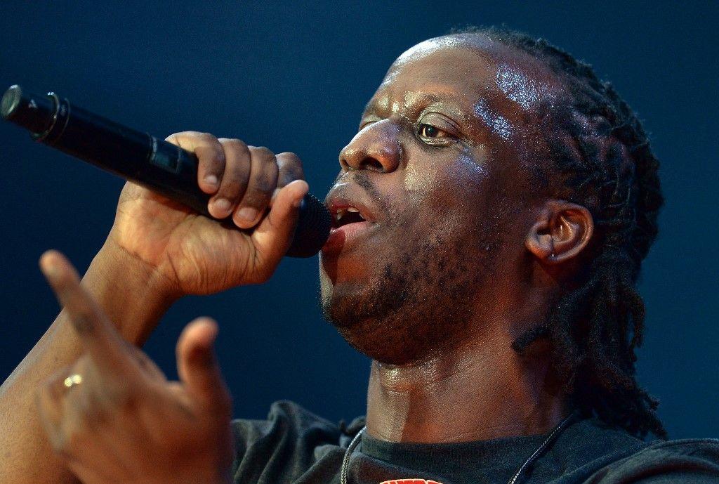 Le rappeur Youssoupha lors du concert Urban Peace 3 le 28 Septembre 2013 au Stade de France.