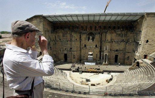 Le théâtre d'Orange, qui était une colonie romaine nommée Arausio.