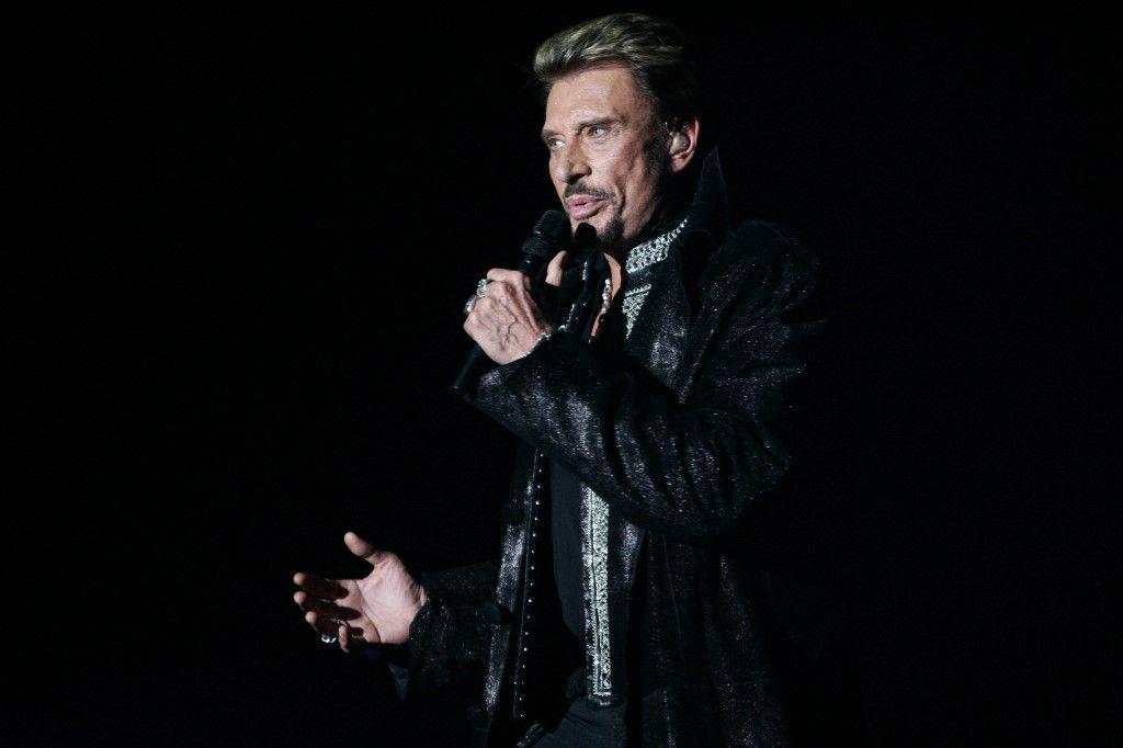 Le chanteur Johnny Hallyday sur la scène de Bercy à Paris, le 29 septembre 2006. Un concert hommage à Johnny Hallyday va se dérouler ce mardi 14 septembre à l'Accor Arena à Paris.