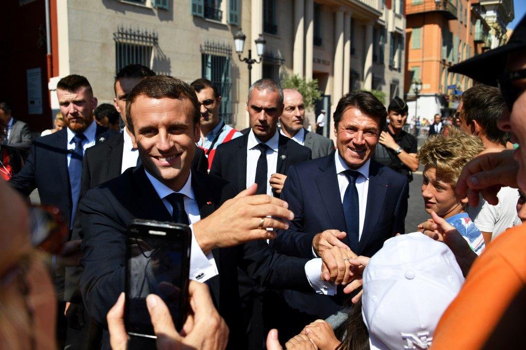 Christian Estrosi LREM Emmanuel Macron LR