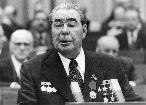 Leonid Brejnev, secrétaire général du Parti communiste de l'Union soviétique de 1964 à 1982.