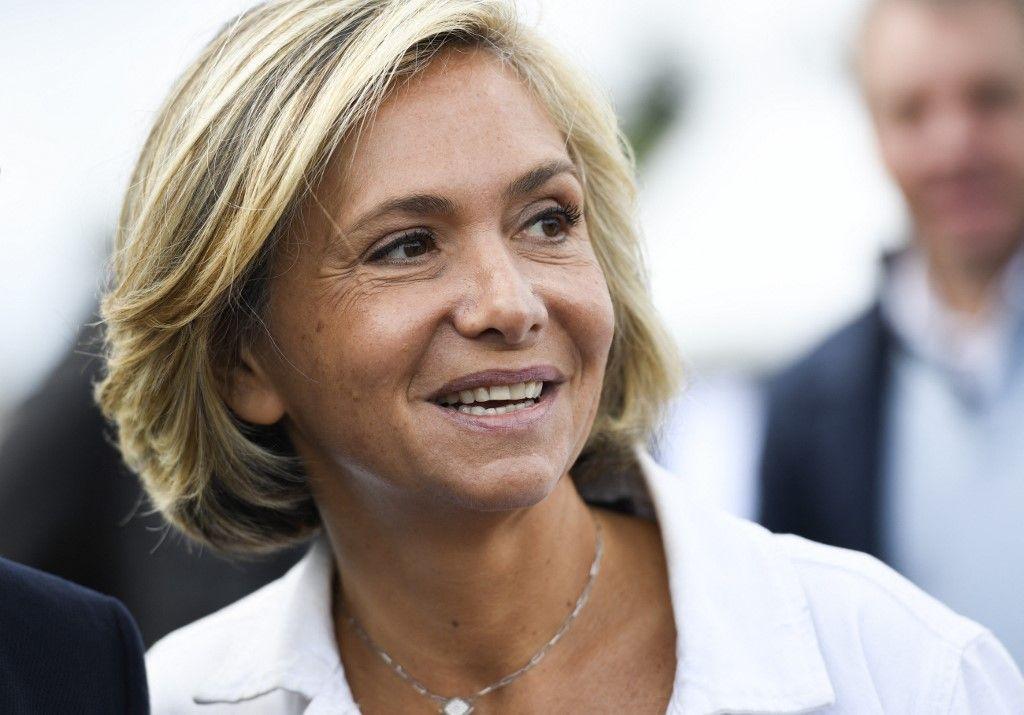 """La présidente de la région Ile-de-France, Valérie Pécresse, lors du lancement de son nouveau mouvement politique """"Libres !"""", le 10 septembre 2017, à Argenteuil."""