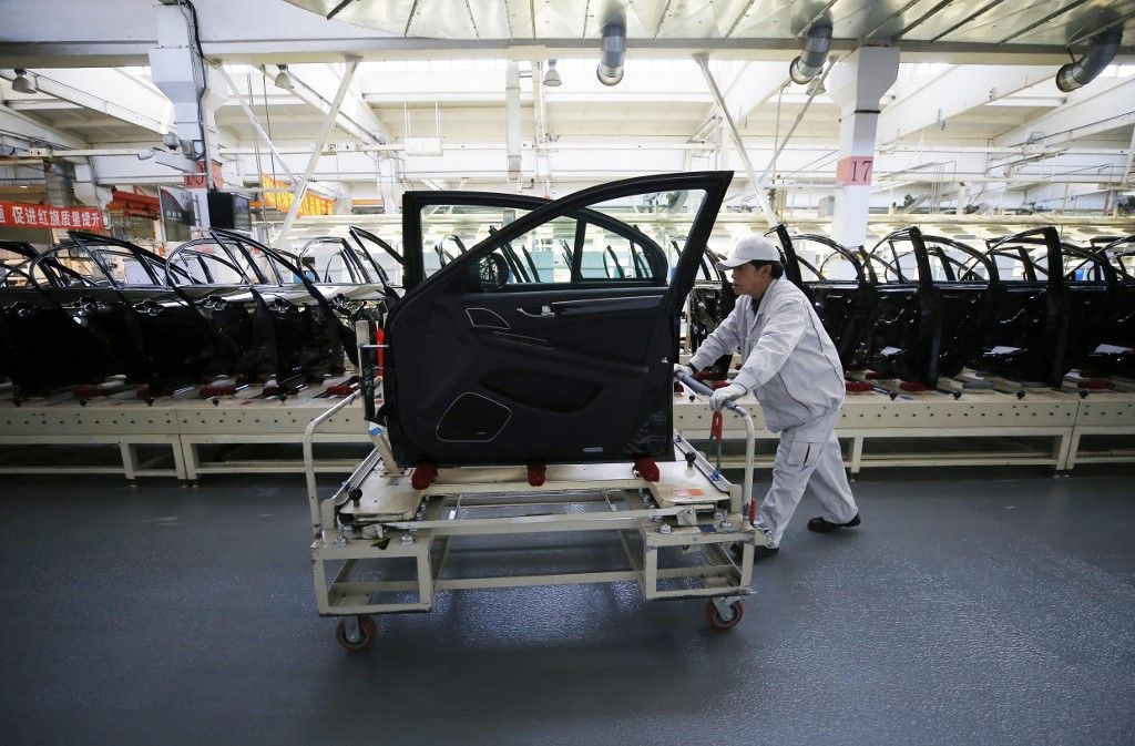 Une ligne de production dans une usine de Changchun, en Chine.