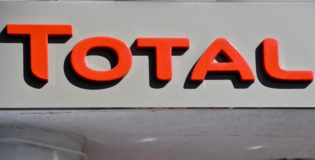 Le logo du groupe Total dans une station service de Mexico en janvier 2018.