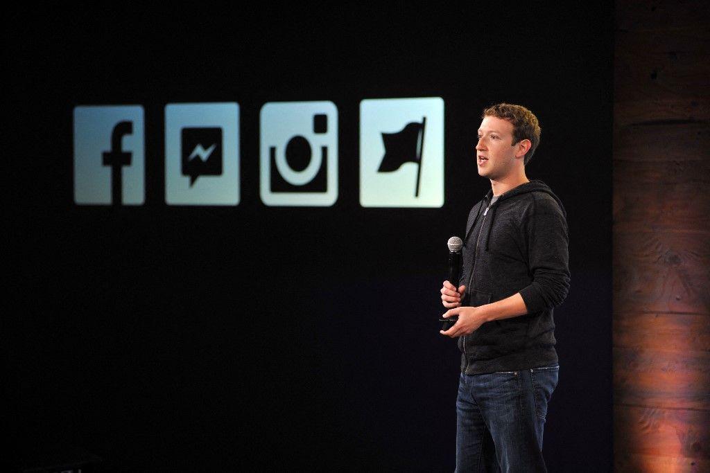 Le PDG de Facebook, Mark Zuckerberg, s'exprime lors d'un événement médiatique en Californie, le 20 juin 2013, lors de l'annonce de l'arrivée de la vidéo sur instagram.