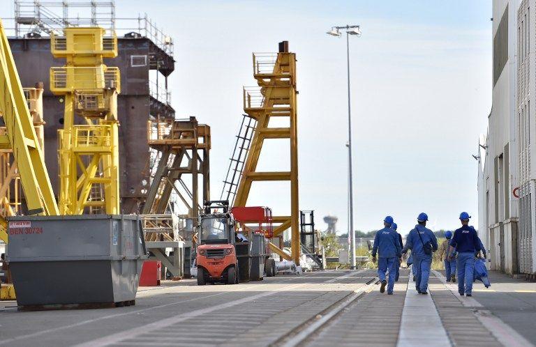Un chantier STX à Saint-Nazaire.