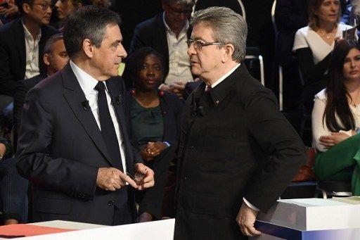 Présidentielle 2017 : François Fillon et Jean-Luc Mélenchon toujours donnés au coude-à-coude
