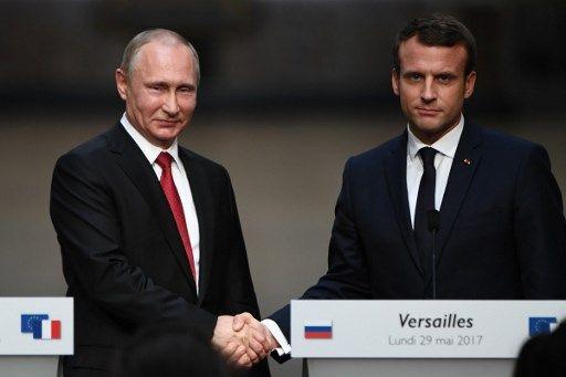 Emmanuel Macron a reçu Vladimir Poutine à Versailles