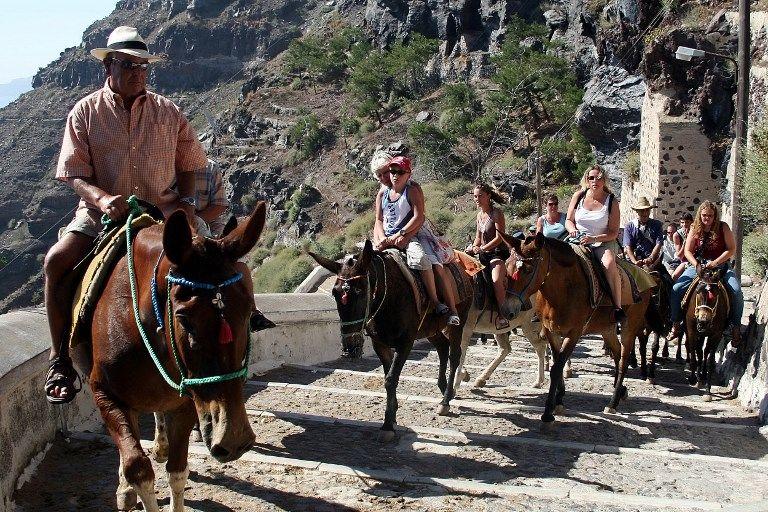 Les touristes obèses américains et anglais impactent gravement la santé des ânes en Grèce