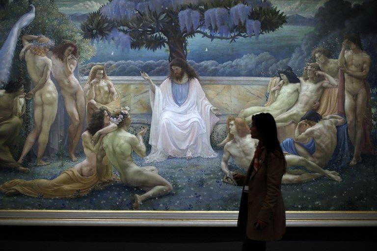 L'école de Platon, par l'artiste belge Jean Deville.