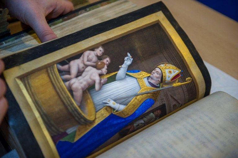 """Une page du livre """"Grandes Heures d'Anne de Bretagne""""."""
