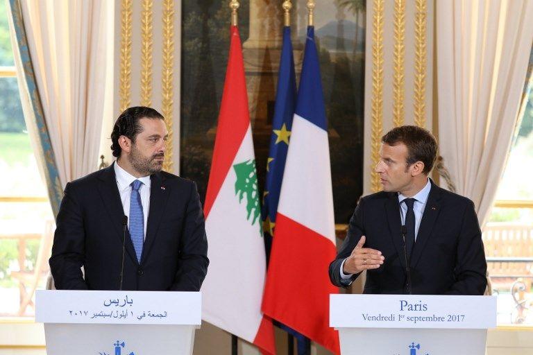 Emmanuel Macron invite Saad Hariri en France