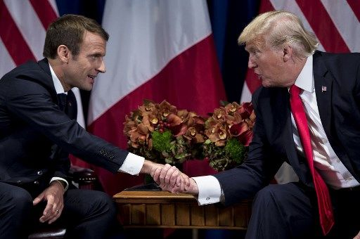 """""""Je suis assez certain que mon ami Trump va changer d'avis"""" sur le climat, lance Emmanuel Macron"""