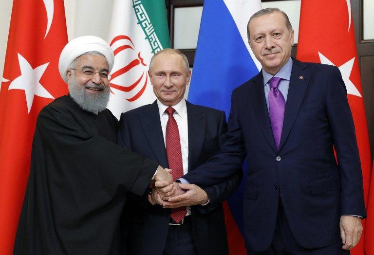 Recep Tayyip Erodgan Vladimir Poutine Iran Turquie Russie