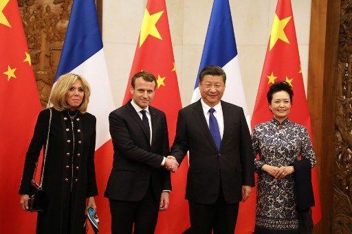 Macron en Chine : accord sur le nucléaire et le bœuf