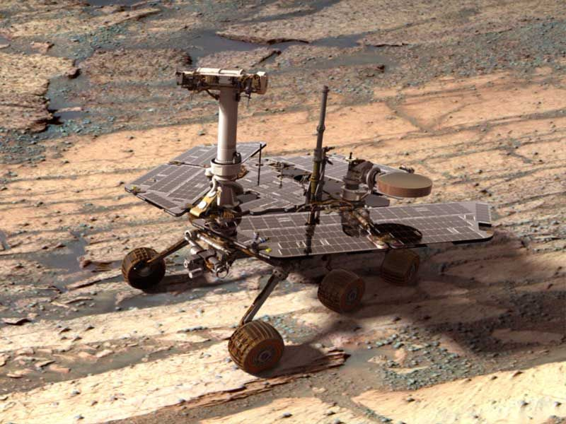 Le rover Opportunity.