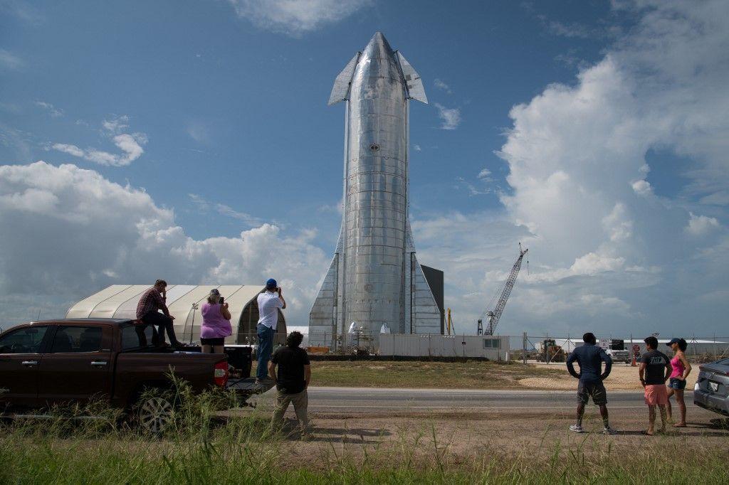Un des premiers prototypes du vaisseau Starship de SpaceX.
