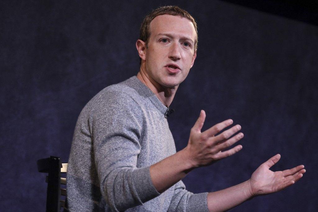 Mark Zuckerberg, PDG de Facebook, évoque la nouvelle fonctionnalité Facebook News au Paley Center For Media le 25 octobre 2019 à New York.