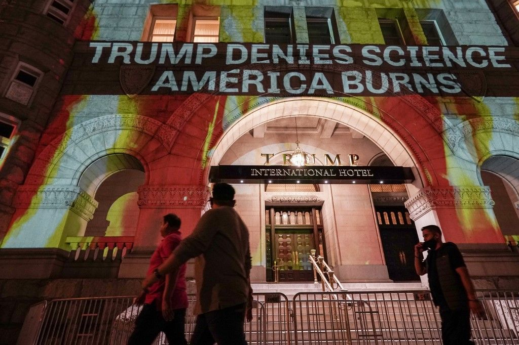 réchauffement climatique donald trump manifestation élection présidentielle américaine vote