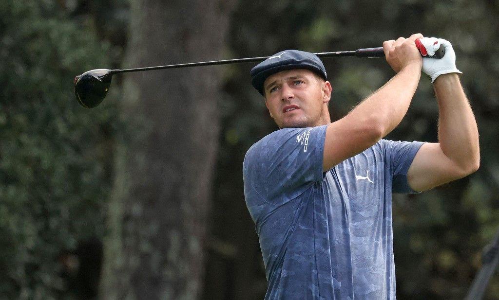 Le golfeur professionnel Bryson DeChambeau lors d'une compétition officielle.