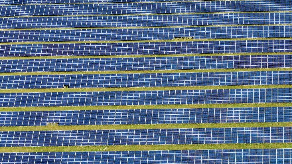 Une centrale solaire près de New-York.
