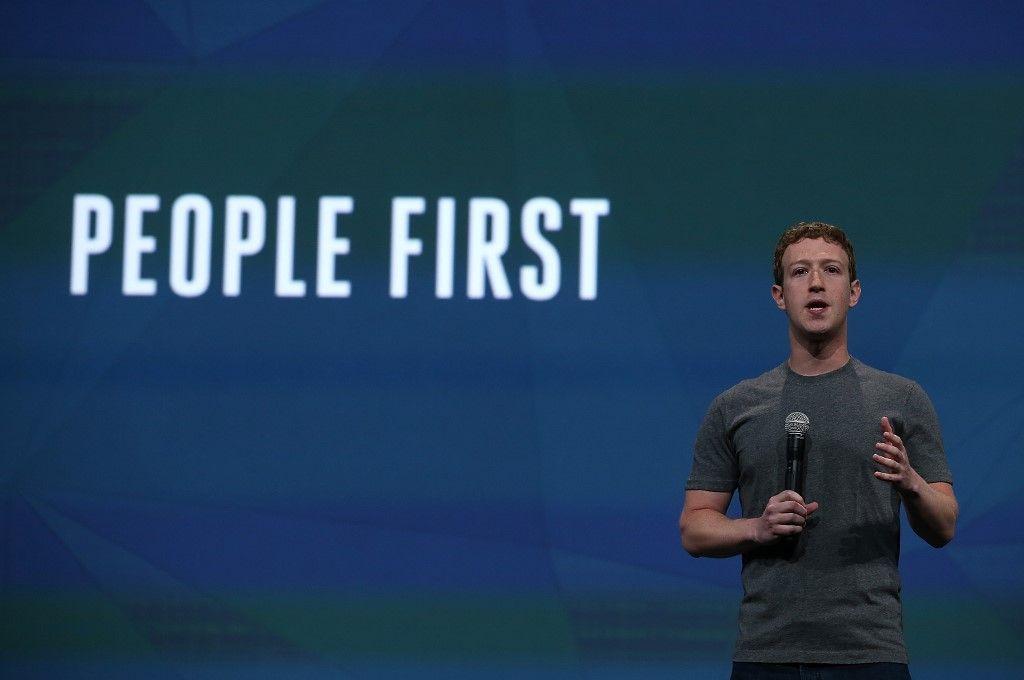 Le PDG de Facebook, Mark Zuckerberg, s'exprime lors d'une conférence.