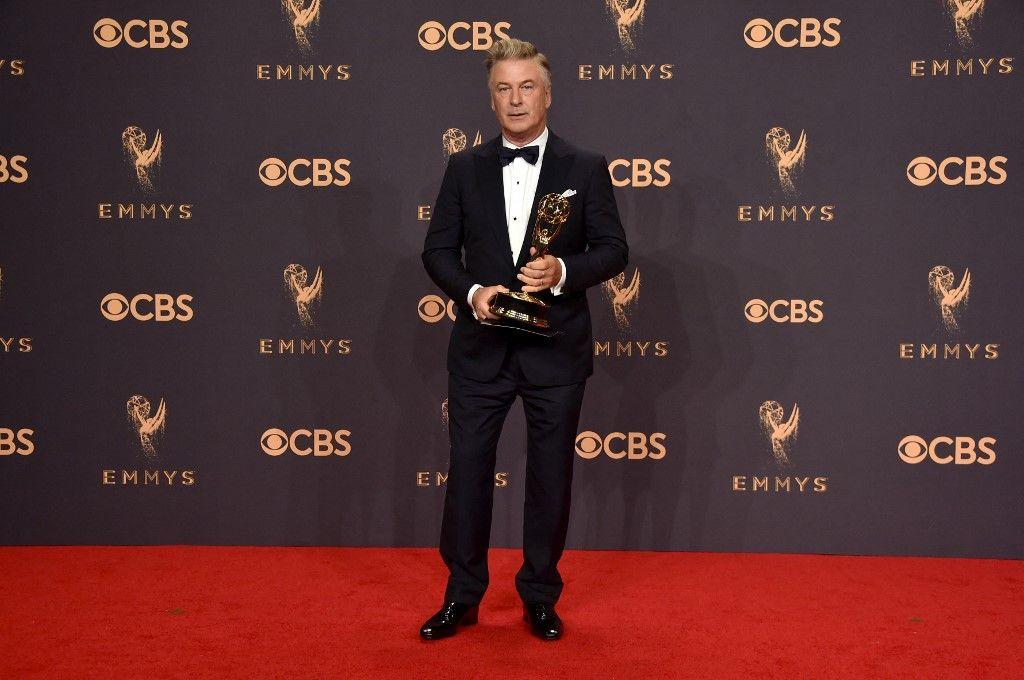 Alec Baldwin lors de la cérémonie des Emmy Awards en septembre 2017.